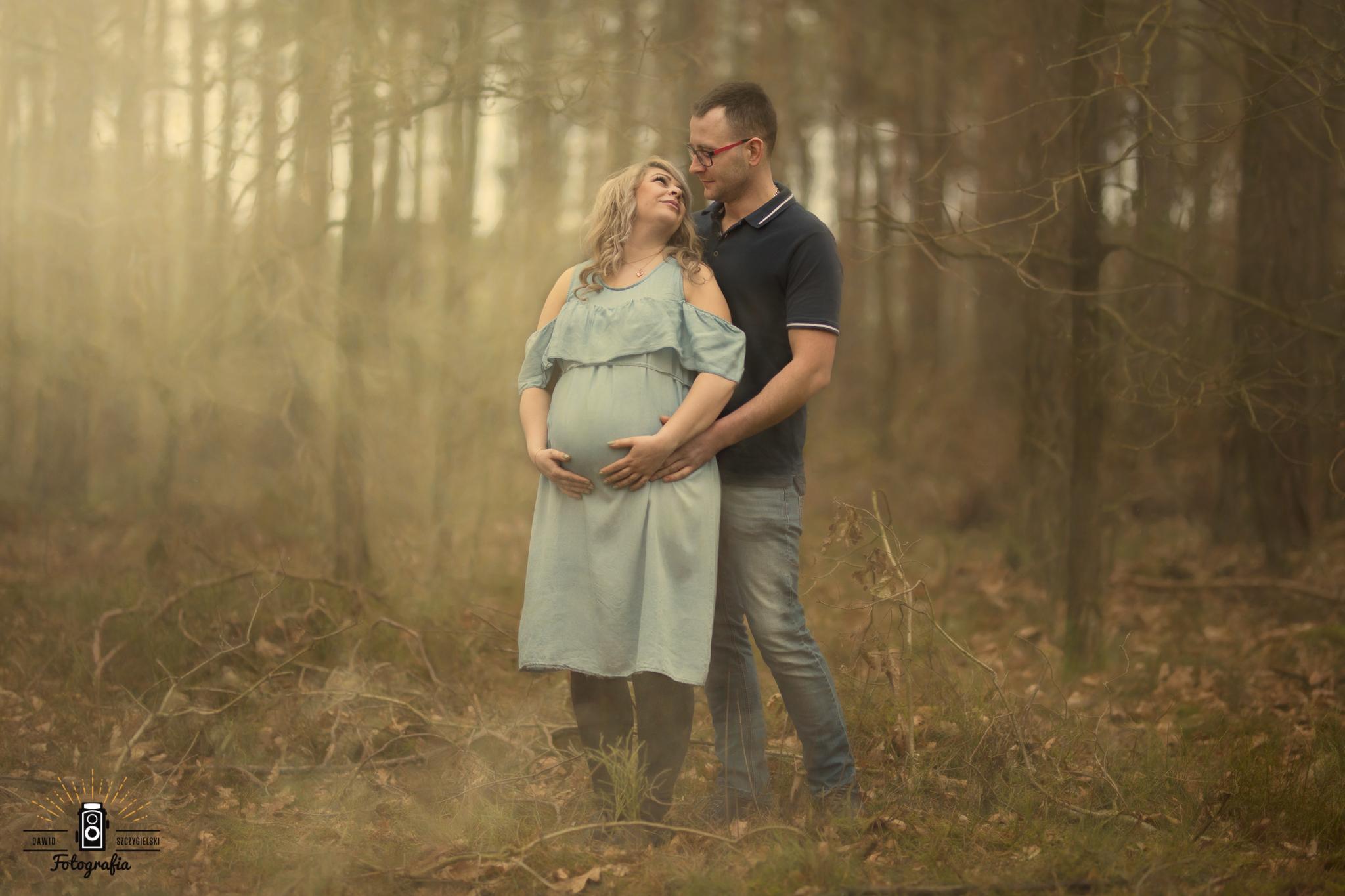 sesja ciążowa Oli i Damiana